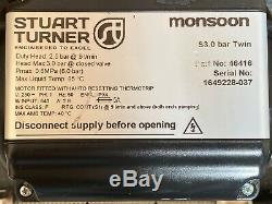 2016 Stuart Turner Monsoon 3.0 Bar Twin Standard Shower Pump Positive 46416 3