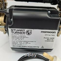 2017 Stuart Turner Monsoon 2.0 Bar Twin Universal Shower Pump Negative 46480