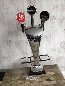 3 Tap Beer Tap Font T-bar Woodpecker Guinness Strongbow Home Bar Man Cave