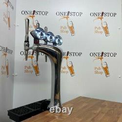 3 Way Chrome Cobra T Bar Beer Pump /font Taps And Handles