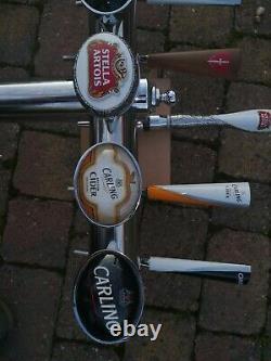 5 Pub Beer taps T-Bar pump Tap Home BAR lager Ale cider Man cave