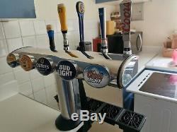 5 Taps Beer T-Bar, Beer Pump, Tap, Home Bar, Pub, Man Cave. Pub