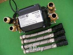 A Stuart Turner 1.5 Bar Twin Brass Pump
