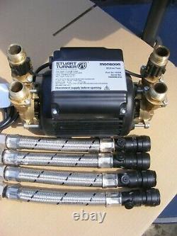 A Stuart Turner 3.0 Bar Brass Twin Pump