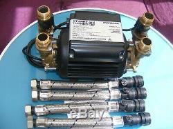 A Stuart Turner 3.0 Bar Twin Brass Pump