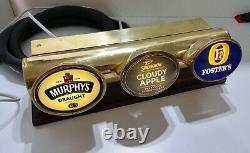 Angram 3 beer lager drink lowline pump tap brass home T BAR FONT LIGHT mancave
