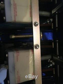Angram 4 Pull Beer Pump Beer Engine Pub Bar Mancave Black Handle Chrome USED
