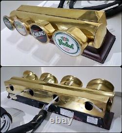 Angram 4 beer lager drink lowline pump tap brass home T BAR FONT LIGHT mancave