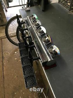 Angram 5 Tap Chrome Low Line Beer Font/pump For Man Cave/shed Pub/home Bar