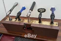 Angram 5 beer lager drink pump tap home pub T bar font light brass mancave