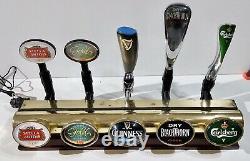Angram 5 beer lager guinness drink pump tap home T bar font light brass mancave