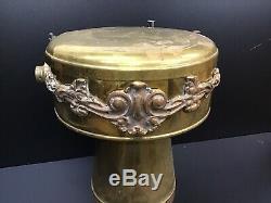 Antique Vintage Brass Beer 5 Tap Tapper Tower Bar Mount Beer Pump Chicago SF