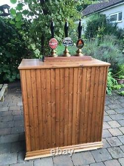 Beer hand pumps and bar for real ale suitable for man cave. Everything you need