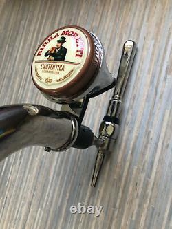 Birra Moretti Chrome Chaplin Font / Pump. For Home Bar, Mancave, pub (Porta)