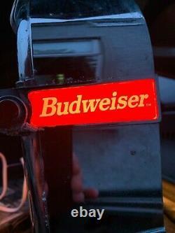 Budweiser Illuminated Bar Top Pub Pump Font Sign Advertising Beer Light