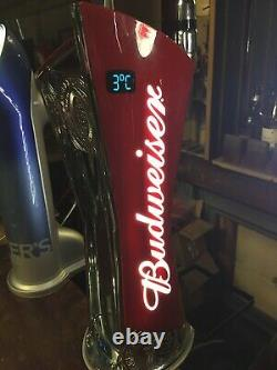 Budweiser Tower, Beer. Tap Pump. Drip Tray Bracket Incl. Home bar, man cave etc