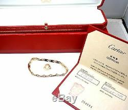 Cartier 18k Yellow Gold Fidelity Heart Key Bar Link Bracelet with Box + Papers