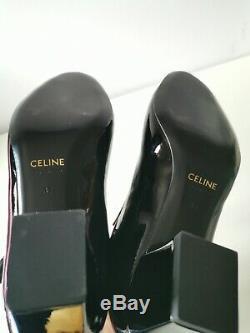 Celine Babies T-Bar Black Patent Leather Pumps Size 37