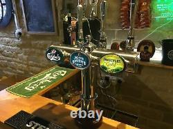 Chrome 3 font T-bar beer pump