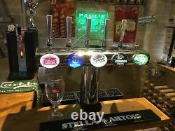 Chrome 5 font T bar beer pump