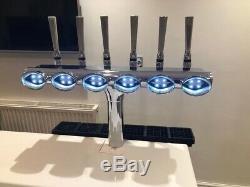 Chrome 6 Tap Beer Pump, Bar Font / Home Bar / Man Cave / Pub