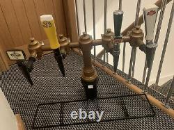 Classic Home Bar Man Cave Brass T Bar Beer Pump Boddingtons Murphys Stella DERBY