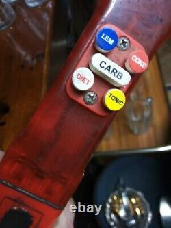 Coca Cola Deluxe Bar Pump Set vintage pumps pub beer bar counter goods used