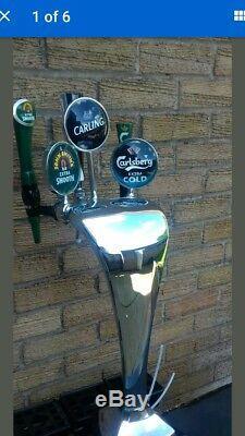 Complete Home Bar Beer Set Up. Beer Pumps Cooler Etc