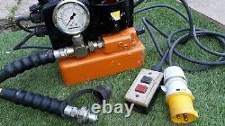 DSP Hydraulic Pump Enerpac gauge 700 bar 110v pump pack