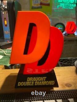 Double Diamond Bar Font Beer Pump Topper Vintage Retro