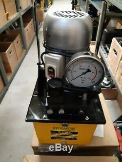ELECTRIC DRIVEN HYDRAULIC PUMP (DOUBLE ACTING MANUAL VALVE) 8 Liter 700 Bar