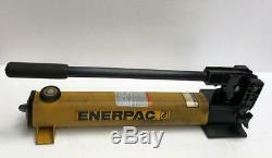 ENERPAC P392 HYDRAULIC HAND PUMP 2-SPEED 700 BAR/10,000 PSI WithACCESSORIES (3) UU