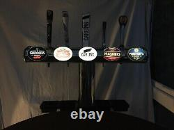 Five 5 Product Hi Line TBar Beer Pump Chrome Light Up, Badges Drip Tray, Pub Bar