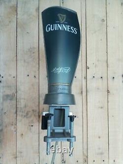 Guinness Beer Pump Tap Font Unique Surger Drip Tray No Lights Pub Bar Man Cave