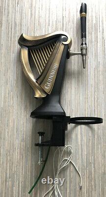 Guinness Harp Beer Pump / Font for Pub / Bar / Mancave. Illuminated