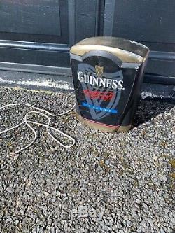 Guinness Illuminated Bar Top Pub Pump Font Sign Advertising Beer Light