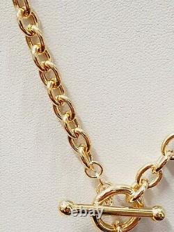 Heart T-Bar 9ct Gold Necklace 17.3 grams 20 3/4 Gift Box