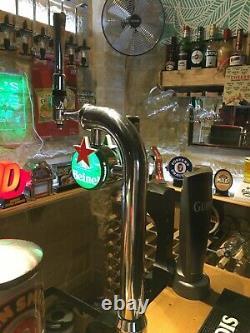Heineken beer pump bar font double badged with light transformer included