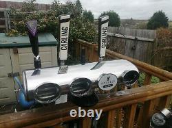 LED 4 Font T bar beer pump MANCAVE HOME Bar Carling/dark fruit