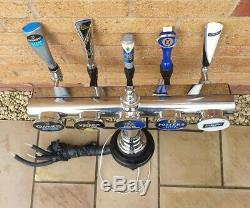 Large T Bar Beer Ale Pump Font Tap Light Up Home Bar Pub Chrome Hand Pull Tap 1