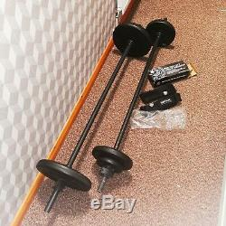 Les Mills Body Pump Bar And Weights Set, 2 bars, 6 weights plus ankle weights