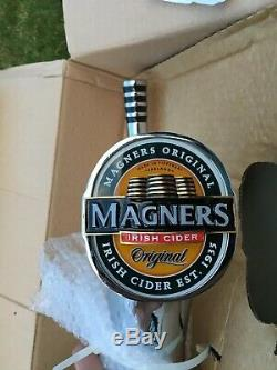 Magners Chrome Beer Pump & Drip tray Font Tap Perfect for Home bar or man cave