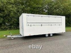 Mobile Bar Box Trailer Catering Double Axel Trailer With Draft Beer Pumps & More