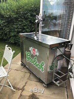 Mobile Bar With 2 Draught Pumps And Chiller