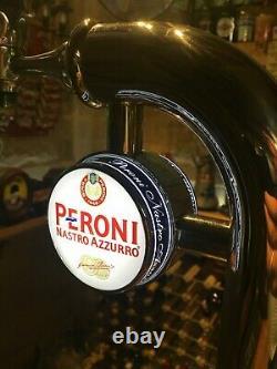 Peroni Nastro Azzuro beer pump bar font
