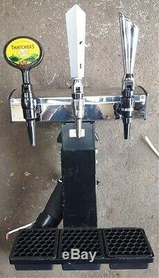 Pub Man-Cave Bar 3 Font Handle Taps Beers Lagers Ciders Bitters Pumps Dispensers