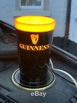 Rare Guinness Illuminated Bar Top Pub Pump Font Sign Advertising Beer Light