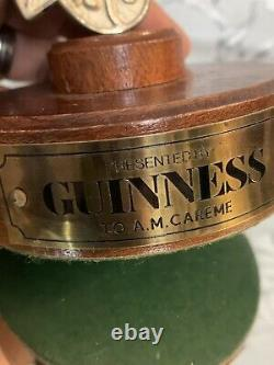 Rare Vintage Guinness Award Prize Promo Brass Harp On Plinth Pub/Bar/Man cave