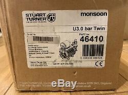 STUART TURNER MONSOON 46410 3.0 Bar Shower Pump 1 Hour Use Only Twin Head