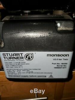 STUART TURNER Monsoon 2 Bar Twin Shower Pump Heavy Duty